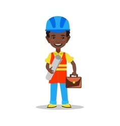 Kids builder character vector image
