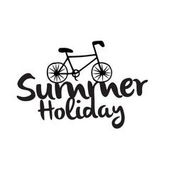 summer holiday bike white background image vector image