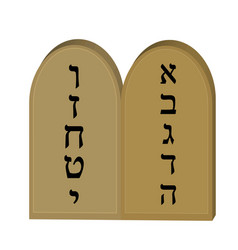 tablets jewish from 10 commandments icon flat vector image vector image
