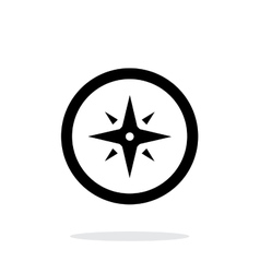 Wind rose icon on white background vector image