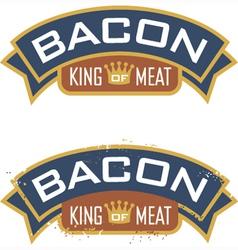 Bacon Emblem vector image vector image