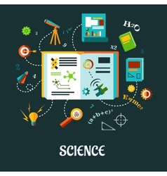 Creative science flat concept vector image vector image