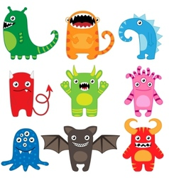 monster set vector image