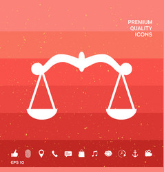 Scales symbol icon vector