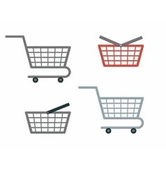 Shopping cart and basket vector