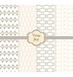 Vintage damask ornaments pattern vector image