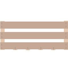 Wooden box crate vector image