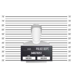 creative of police lineup vector image