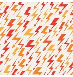 Orange red and yellow lightnings seamless pattern vector image vector image
