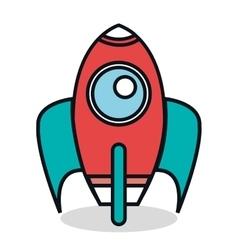rocket startup flat icon vector image