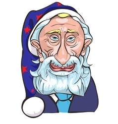 The president Putin in the form of Santa a vector image