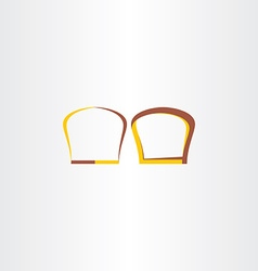 brown and yellow bread logo vector image
