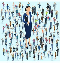 businesswoman big boss leader vector image