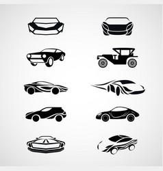 car logo icon set vector image