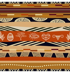 Seamless pattern with graphic elements Tribal styl vector image vector image