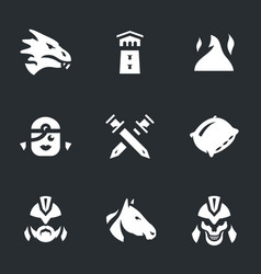 set of fantasy love story icons vector image