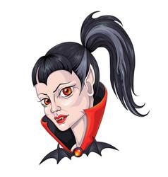 vampire girl vector image