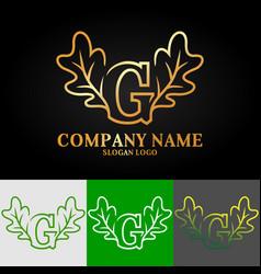 02 oak letter g vector image