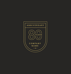 80 years anniversary celebration your company vector image