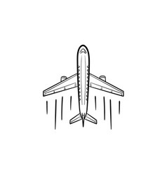 airplane hand drawn outline doodle icon vector image