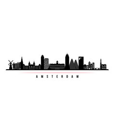 amsterdam city skyline horizontal banner vector image