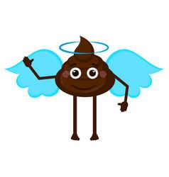 angel poop emoji vector image