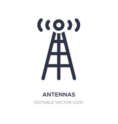 Antennas icon on white background simple element vector