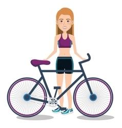 Athlete fitness female avatar vector
