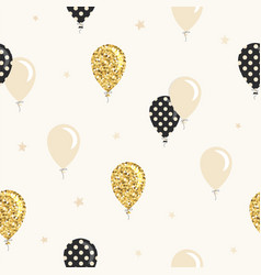balloons seamless pattern background for vector image