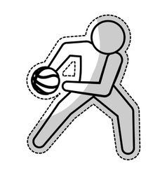 basketball icon image vector image