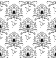Beautiful ornate dainty floral seamless pattern vector image
