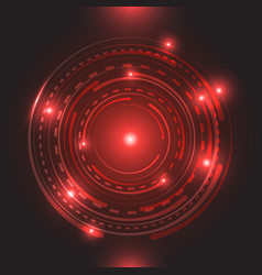 beautiful red glowing circle light vector image