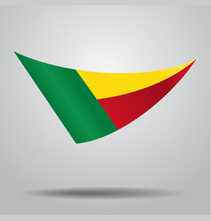 Benin flag background vector