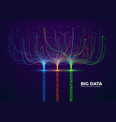 big data visual concept machine learning and data vector image