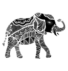 Black Indian elephant vector image