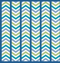 blue green striped chevron seamless pattern vector image