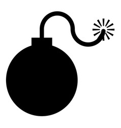 bomb explosive military anicent time bomb weapon vector image