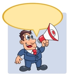 Businessman with megaphone 3 vector image