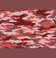 Camouflage pattern background red pink style vector