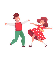 cartoon kids dancing at christmas party vector image