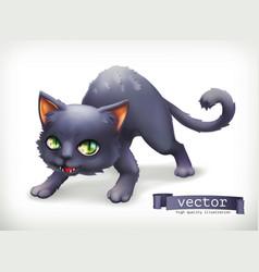 cat happy halloween 3d icon vector image