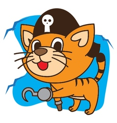 Cat Pirates vector image