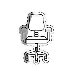Chair office object vector