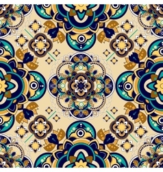Colorful Paisley seamless pattern Indian vector image