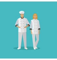 Cooking chefs characters in vector
