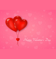 couple red hearts balloon with message vector image