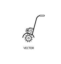 Cultivator outline icon vector