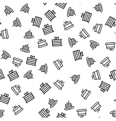 delicious sweet dessert seamless pattern vector image