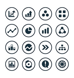 Diagram icons universal set vector