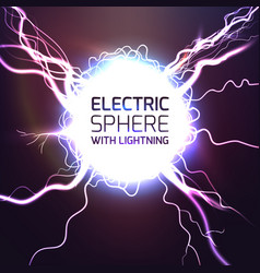 elecktric sphere light effect background vector image